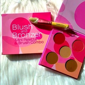 NIB- BLUSH & BRONZER mini Palette with Brush Combo